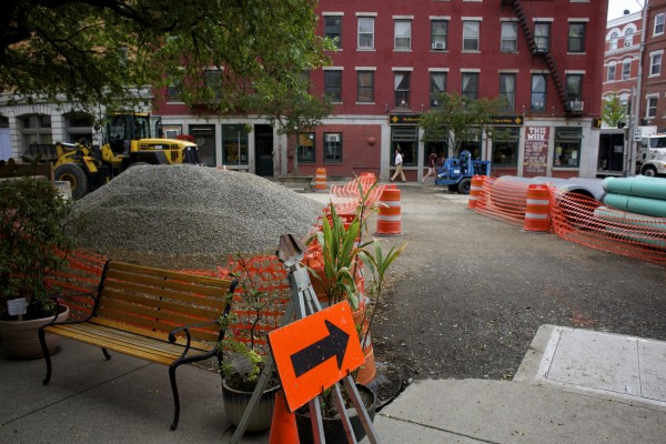 Some business owners near West Market Square have seen a drop in customers because of Bangor's construction project.