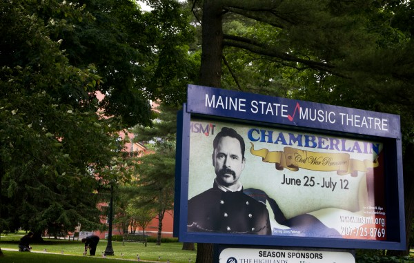 The Maine State Music Theatre in Brunswick is staging a musical about Civil War hero Joshua Chamberlain, who died 100 years ago from a wound he received 50 years earlier in Petersburg, Virginia. Dean Clegg, who leads tours at Chamberlain's house, across the street, is raising money to mark the spot in Virginia.