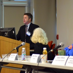 Kevin Roche, the general manager and CEO of the non-profit waste management company ecomaine, spoke Thursday at a waste management panel hosted by E2Tech on the importance of waste reduction in the state.