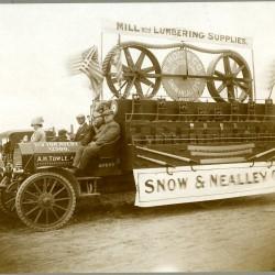 Early Bangor carnival parade float.