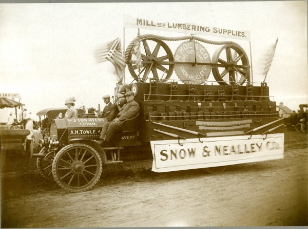 Early Bangor carnival parade float.