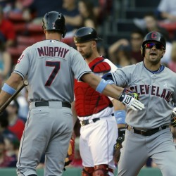 Bourn's double lifts Indians past Red Sox