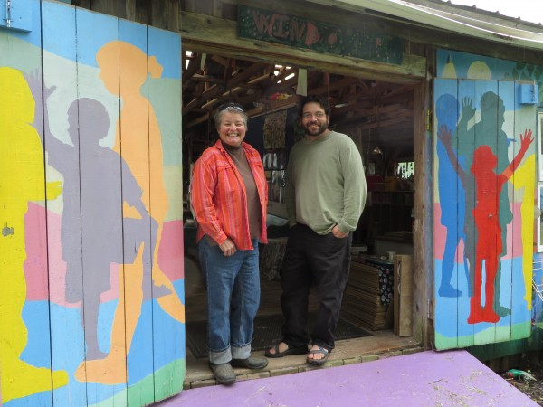 Mari Abercrombie (left) and her son Isaac Fer, the director and assistant director team, at Windover Art Center in this June photo.