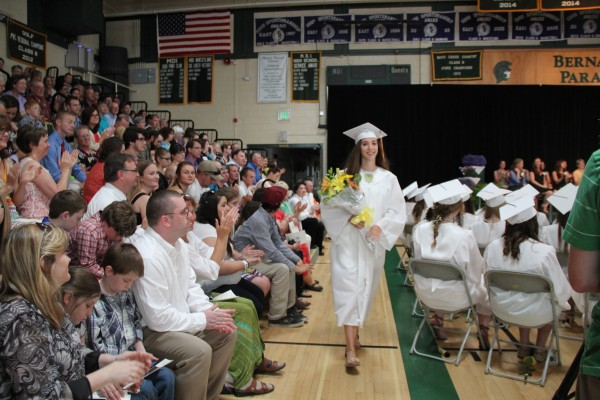 Olivia Erickson is the valedictorian at the Mount Desert Island High School this year. She and her twin sister, Isabel, tied, though they did not give speeches. The school is phasing out the use of GPAs to rank students and elected graduation speakers this year instead of picking the two with the highest GPAs.
