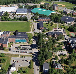 This University of Southern Maine aerial photograph depicts the school's Gorham campus. USM also has campuses in Portland and Lewiston.