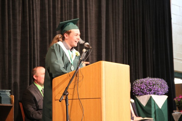 Gus DenDanto was selected by the faculty and staff of Mount Desert Island High School to give a graduation speech on Sunday. &quotAdversity will hit,&quot he told his classmates. &quotIt's going to hit hard. Don't worry, you can take that hit.&quot