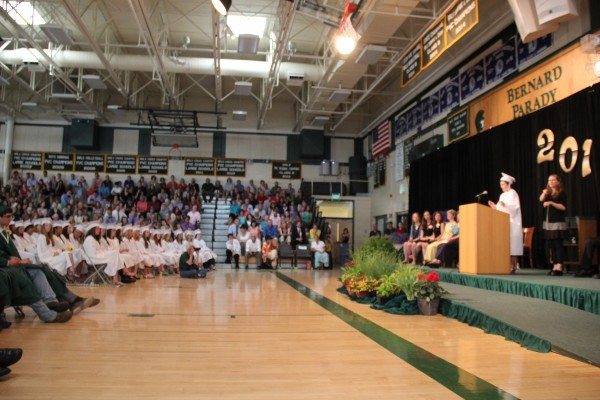 At the Mount Desert Island High School, the graduation speakers were voted on by students, faculty and staff.