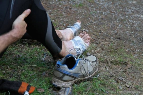 Kale Poland's feet swelled two sizes over his nine days of running the Peak 500 Ultra Marathon.