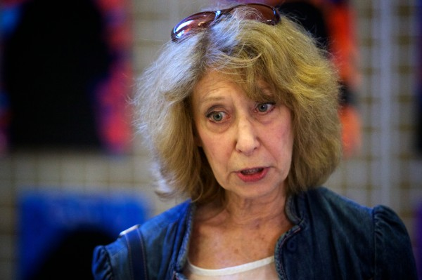 Former University of Southern Maine Professor of Russian Charlotte Rosenthal speaks at a press conference at Portland's City Hall on Monday urging the city council to suspend official government exchange visits from their sister city of Archangel, Russia.