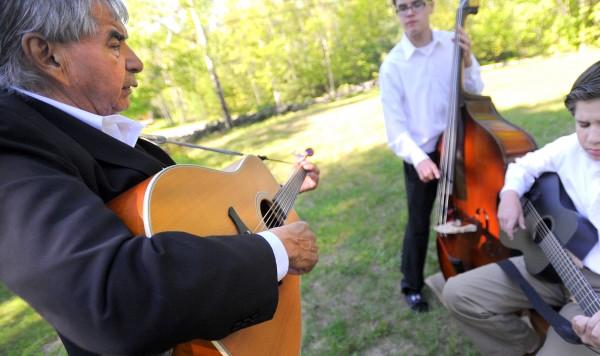 Allen Sockabasin (left) has spent decades trying to preserve his native Passamaquoddy language.