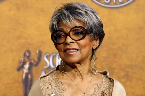 Ruby Dee poses backstage at the 14th annual Screen Actors Guild Awards in Los Angeles, in this Jan. 27, 2008, file photo.
