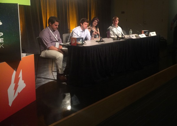 Four panelists from Boston speak about that city's startup community.