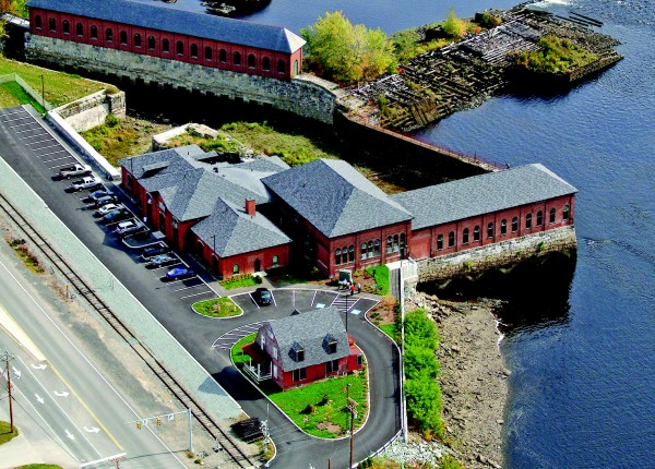 Bangor Waterworks is a rehabilitated historic property of five adjacent brick buildings incorporated into one 18,000 square-foot, two-story structure, which has more than 30 units of affordable housing on the Penobscot River in Bangor.