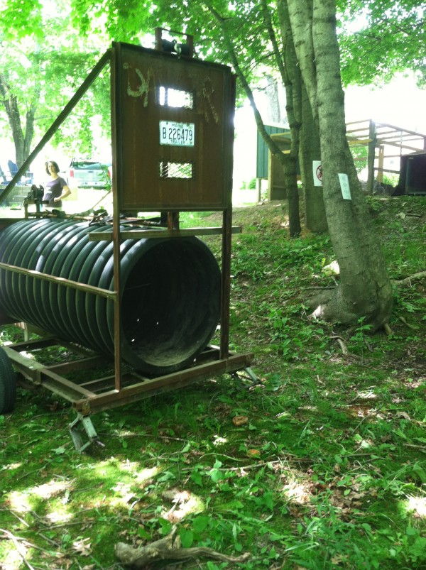 Game wardens and wildlife biologists have deployed two culvert traps, including this one that was set on Mayo Street in Orono, in an attempt to capture three nuisance bears.