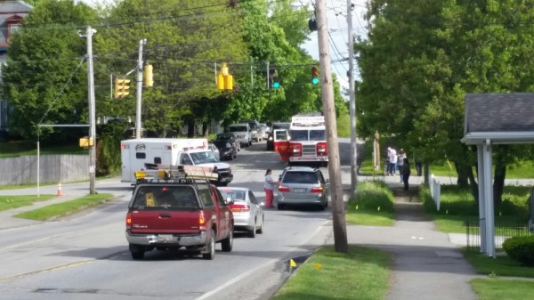 Brewer police and emergency rescue personnel were called to the intersection of State and Washington streets after a local boy was struck by a vehicle while riding his bicycle shortly before 4:30 p.m. Friday.