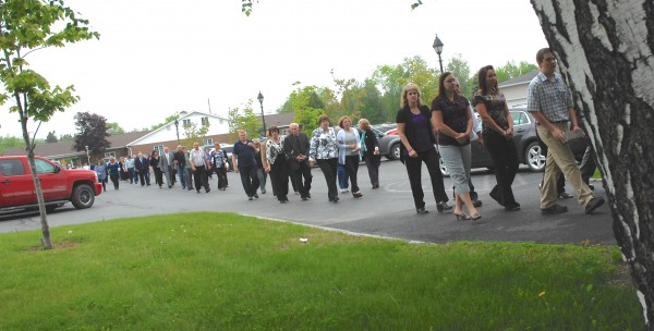 Hundreds gathered to pay their last respects to Amy Theriault at her funeral Thursday in Fort Kent.