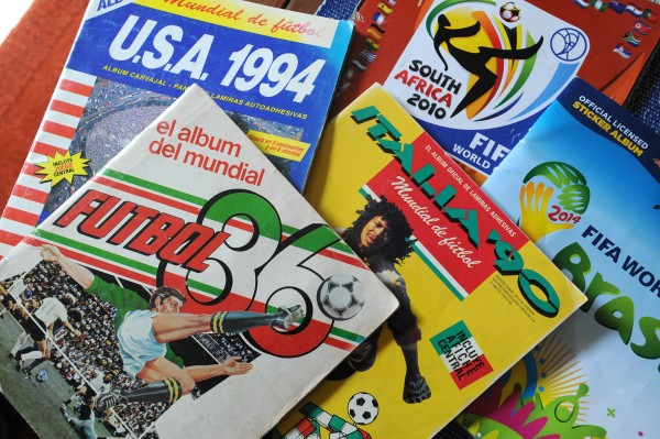Stefano Tijerina collects albums containing stickers of the players and teams that make it to the World Cup. He remembers watching the 1978 World Cup when he was 8 years old.