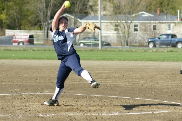 Calais pitcher Olivia Smith has helped lead the Blue Devils to a 16-0 regular-season record and the No. 1 berth in Eastern Maine Class C softball.