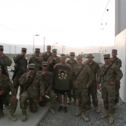Nine members of Maine's 133rd run Boston Shadow Marathon in Afghanistan