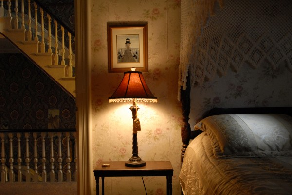 This upstairs room is known as the Captain's Quarters at the former Carriage House Inn in Searsport.