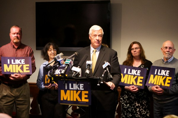 U.S. Rep. and Democratic gubernatorial candidate Mike Michaud unveils his campaign plan to create an Office of Inspector General.