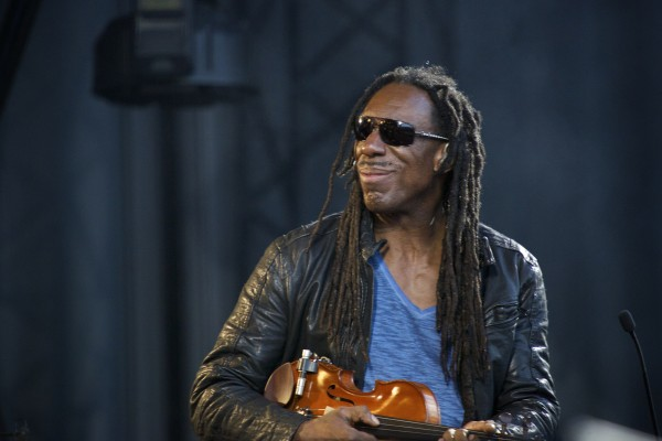 Boyd Tinsley, violinist for the Dave Matthews Band, performs &quotTwo Step&quot on Friday evening at the Darling's Waterfront Pavilion in Bangor.