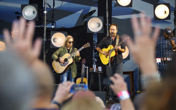 Tim Reynolds (left) and Dave Matthews perform live Friday evening at  the Darling's Waterfront Pavilion in Bangor.