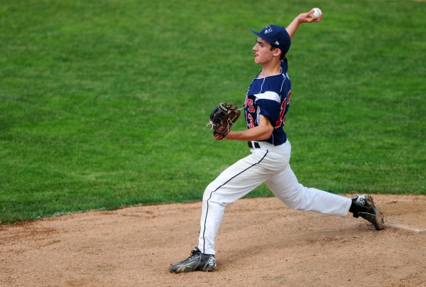 Bangor Christian's Seth Pearson pitches to Limestone on Wednesday during the Eastern Maine Class D baseball final at Mansfield Stadium in Bangor.