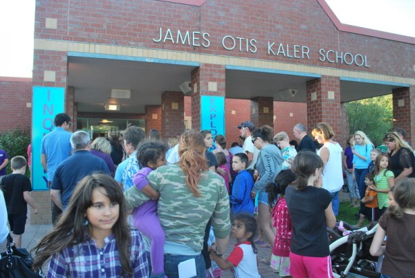 Students, teachers and parents make their way into South Portland's Kaler Elementary School for its annual open house in this 2011 file photo.