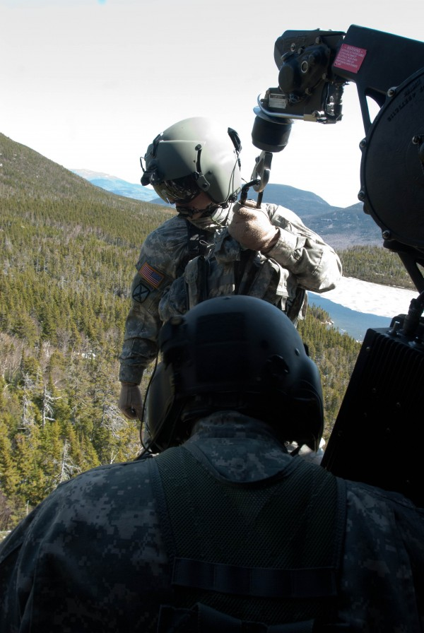 Maine Army National Guard medical and helicopter personnel helped rescue a hiker at Baxter State Park on Tuesday.