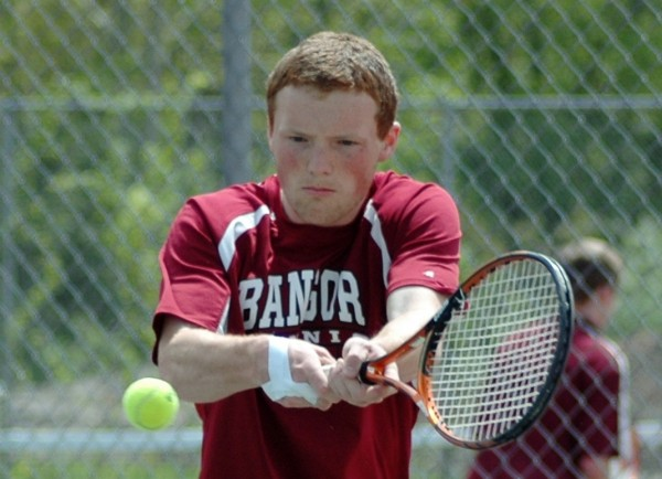 Bangor High School senior Kenny Colpritt has recorded a 13-0 record as the No. 3 singles player in his first season playing tennis.