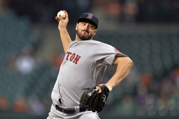 Boston Red Sox starting pitcher Brandon Workman (67) throws in the first inning against the Baltimore Orioles at Oriole Park at Camden Yards in Baltimore Tuesday night.