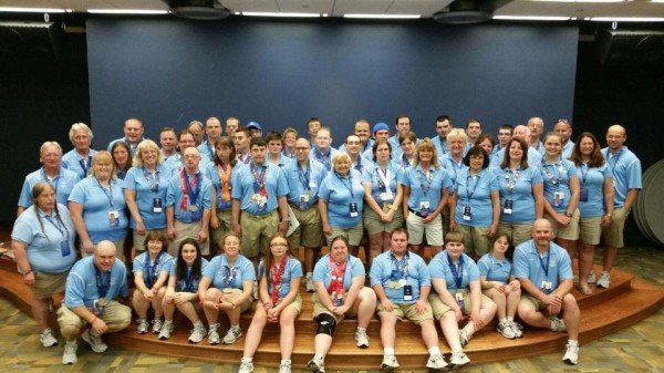 The entire Maine Special Olympics delegation who participated in the national competition.
