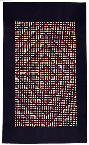 Weaving Study (Indigo), watercolor on Okawara