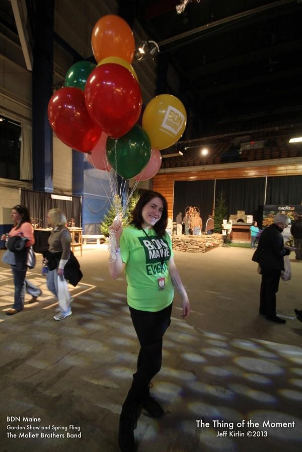 2013: Feature writer Emily Burnham at the BDN Maine Garden Show.