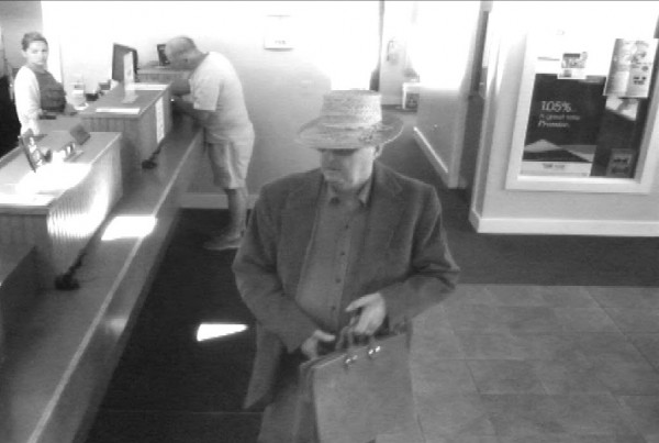 Police are looking for a man who robbed a bank in Hallowell on Monday morning.