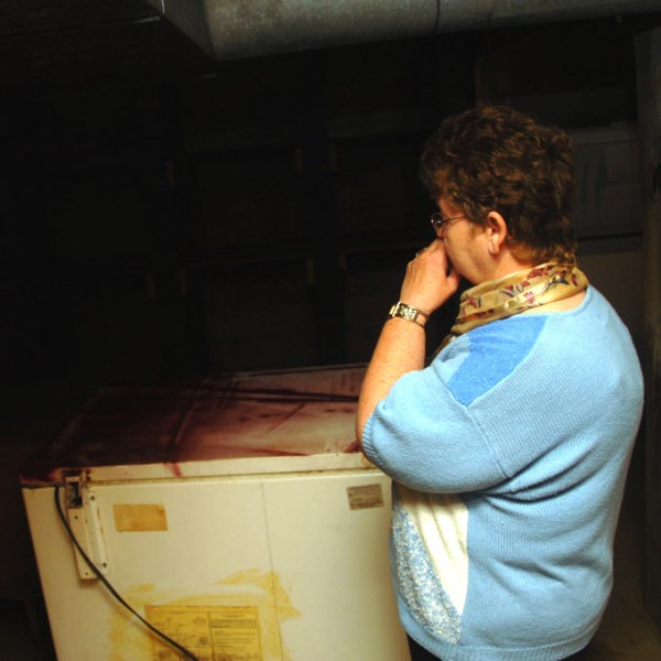Diana Harriman finds the burglary at the Topsfield food pantry an emotional topic.