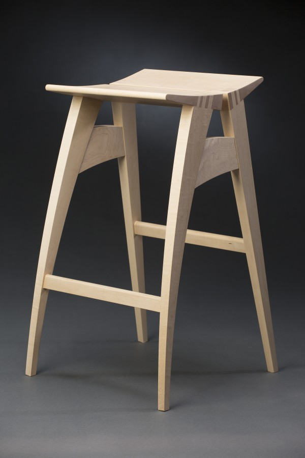 Aled Lewis, &quotPi&quot Stool, maple, 26&quot x 14&quot x 14&quot