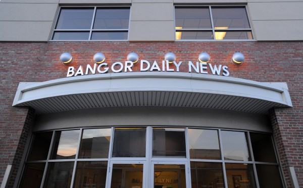 2013: The Bangor Daily News building on the corner of Buck and Maine Streets in Bangor.