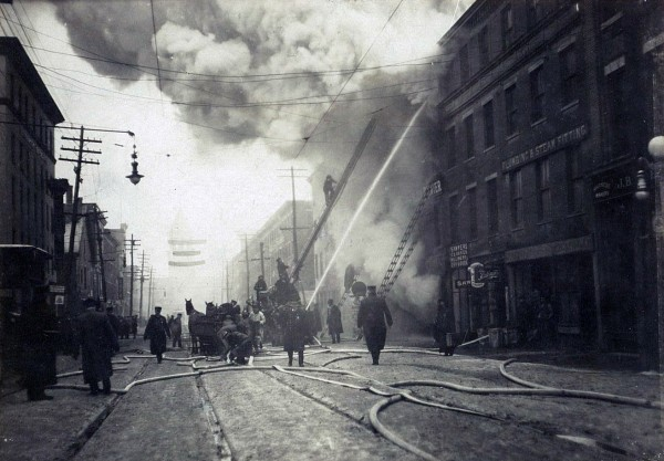 1914: Fire destroys BDN building downtown