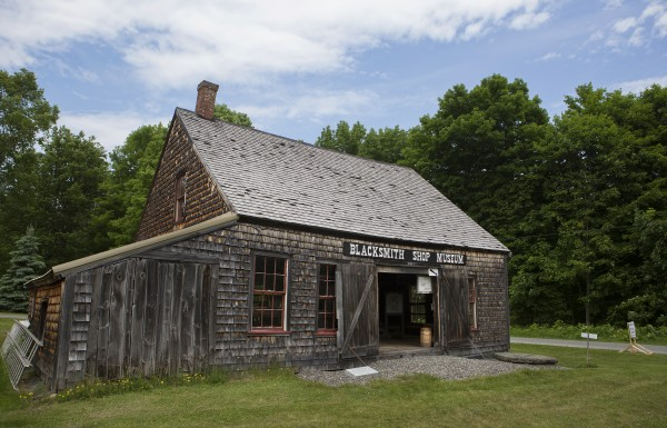 The Blacksmith Shop Museum is seen Tuesday in Dover-Foxcroft. The museum added a new blacksmith demo shop where visitors will be able to see how blacksmithing used to be done.