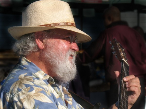 Bob Bowman performing in Bar Harbor