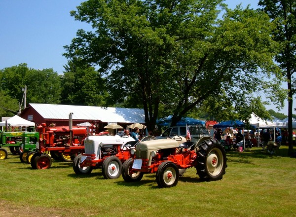 Antique tractors at last year's Brooks Hay Days celebration