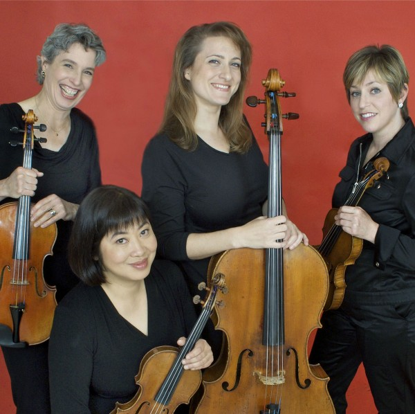 Members of the Cassatt String Quartet.