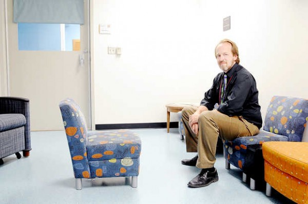 Dr. Michael E. Kelley, chief medical officer for behavioral health at St. Mary's Regional Medical Center in Lewiston, sits in the special child and adolescent section of the behavioral emergency department. Kids in crisis can wait days in the ER for an inpatient hospital bed in the children's behavioral unit to become free. Once patients, children can wait weeks or months for a spot in a residential treatment program.