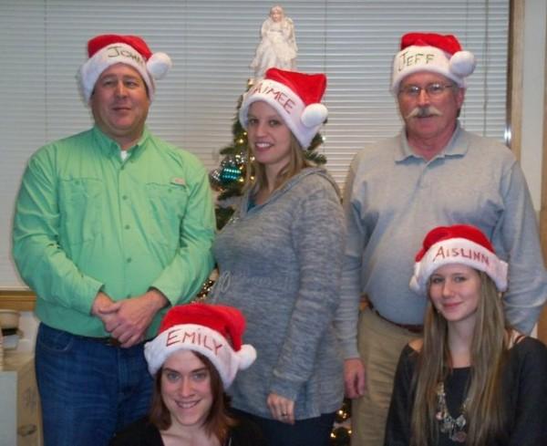 Dec. 2011:  John Holyoke,  Aimee Thibodeau, Jeff Strout (standing) and Emily Burnham and Aislinn Sarnacki (front)