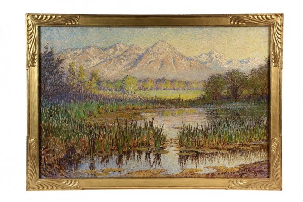 Oil on canvas painting by James Taylor Harwood (UT/CA, 1860-1940) that topped the fine art category and brought $57,500 at Thomaston Place Auction Galleries Spring auction.
