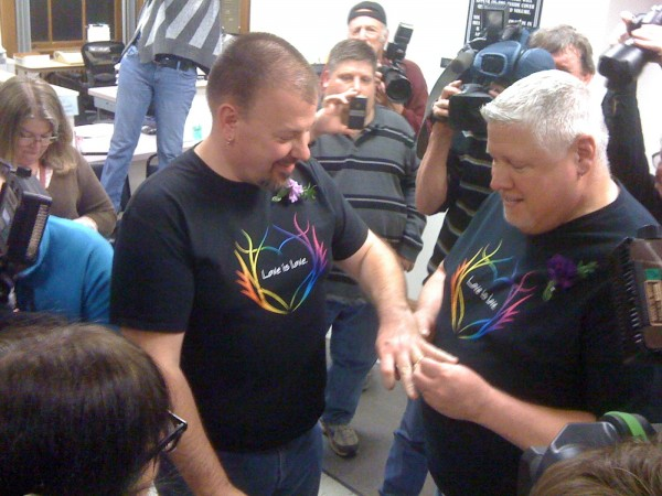 2012: Michael Snell and Steven Bridges become the first same-sex couple in Maine to marry