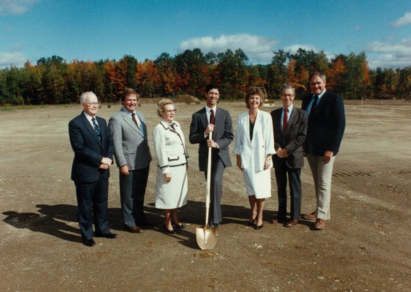 1989: Publisher Richard Warren et al. prepare to open the Hampden printing plant