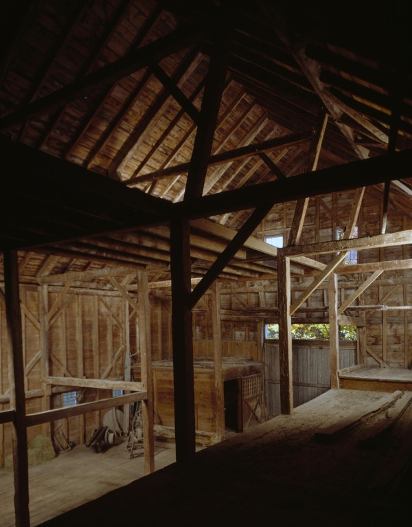 Interior of the Marrett House Barn.